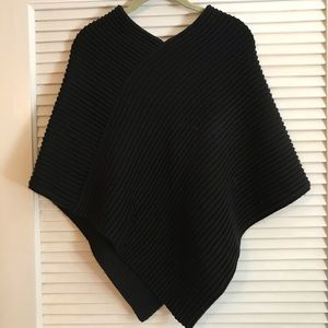 Sweaters - Black Cable Poncho